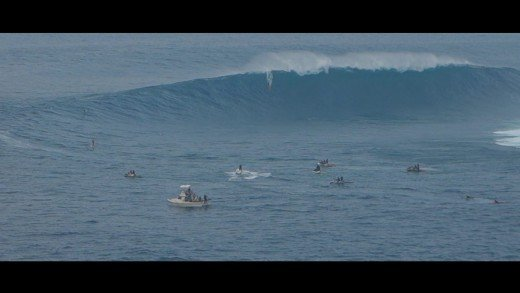 Shane Dorian and the worlds largest wave. JAWS