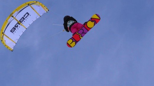 Snowkite Gliding through Alaska