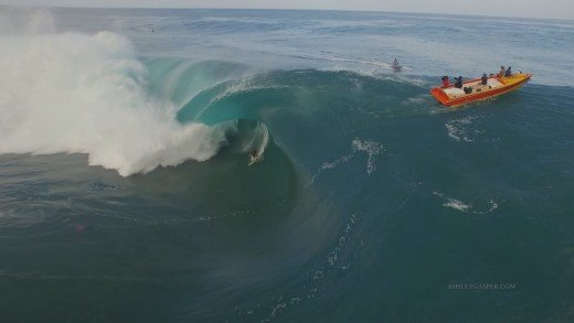 Surfing Teahupoo Tahiti Huge XXL Waves July 2015 Drone Footage