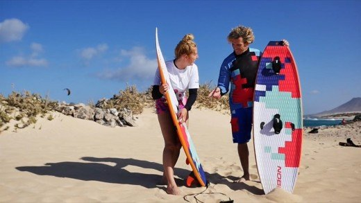 NOBILE KITEBOARDING: WE ARE DOLPHINS ON INFINTY SPLITBOARD WAVE&SURF BOARD