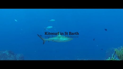 Kitesurf in St Barth with Rodolphe MacKeene and sharks